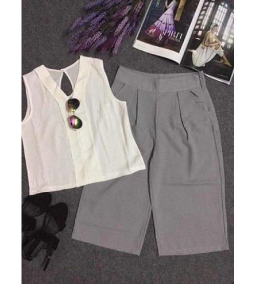 Set bộ áo + quần ống rộng